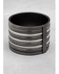 & Other Stories - Metallic Multichain Bangle - Lyst