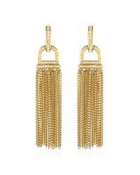 Rachel Zoe | Metallic Pave Tassel Earrings | Lyst