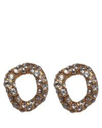 Alexis Bittar - Metallic Goldplated Jardin De Papillon Chain Link Stud Earrings - Lyst