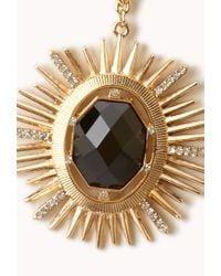 Forever 21 - Metallic Opulent Sunburst Necklace - Lyst