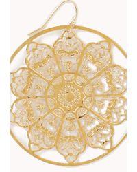 Forever 21 - Metallic Filigree Medallion Earrings - Lyst