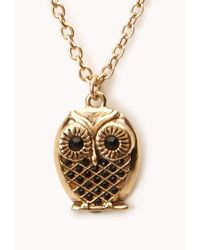 Forever 21 - Metallic Owl Pendant Necklace - Lyst