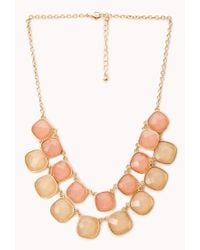 Forever 21 | Pink Dreamy Bib Necklace | Lyst