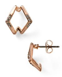 House of Harlow 1960 - Pink Sound Waves Stud Earrings - Lyst