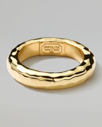 Ippolita | Metallic 18k Gold Shiny Thick Hammered Ring for Men | Lyst