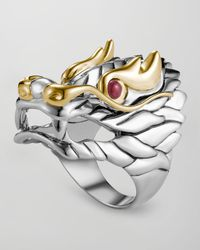 John Hardy | Red Naga Batu Ruby-eye Dragon Ring | Lyst