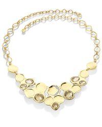 Monica Vinader | Metallic Riva Bib Necklace | Lyst