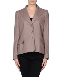 Boutique Moschino - Gray Blazer - Lyst