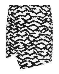 TOPSHOP | White Bat Print Mini Skirt | Lyst