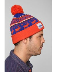 Lyst - Urban Outfitters Penfield Kember Pom Beanie in Red for Men d0bdaac90688