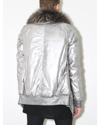 DRKSHDW by Rick Owens - Metallic Exploder Jacket Silver for Men - Lyst