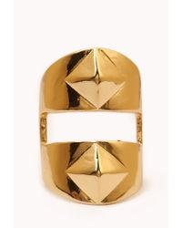 Forever 21 - Metallic Studded Cutout Knuckle Ring - Lyst