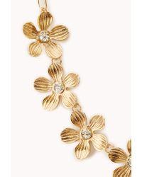 Forever 21 - Metallic Garden Goddess Floral Necklace - Lyst