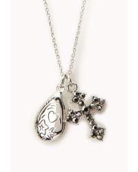 Forever 21 - Metallic Boho Locket Necklace - Lyst