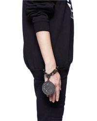 Givenchy | Gray Large Medallion Chain Bracelet | Lyst