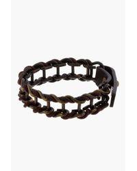 Lanvin - Brown Brass Chain Bracelet for Men - Lyst