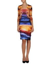 McQ - Orange 34 Length Dress - Lyst
