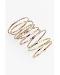 Melissa Joy Manning | Metallic Stackable Rings - Assorted Gold (set Of 8) | Lyst