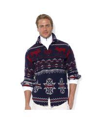 Ralph Lauren   Blue Longsleeve Jacquard Moose Workshirt for Men   Lyst