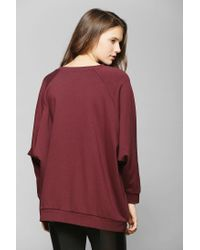 Urban Outfitters | Red Sparkle Fade Oversized Dolman Pullover Sweatshirt | Lyst