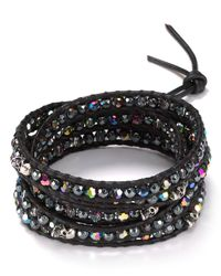 Chan Luu | Black Five Wrap Bracelet With Crystal & Beads | Lyst