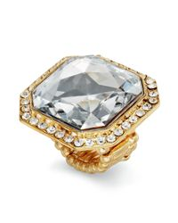 INC International Concepts | Metallic Goldtone Crystal Square Stone Ring | Lyst