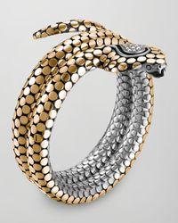 John Hardy | Metallic 18k Dot Cobra Bracelet | Lyst
