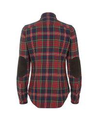 Ralph Lauren Blue Label - Red Veronica Plaid Shirt - Lyst
