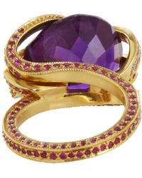 Sharon Khazzam - Purple Pink Diamond Sapphire Amethyst Octopus Ring - Lyst