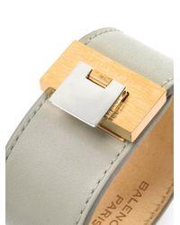 Balenciaga | Gray Le Dix Leather Cuff | Lyst