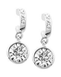 Givenchy | Metallic Silvertone Swarovski Crystal Drop Earrings | Lyst