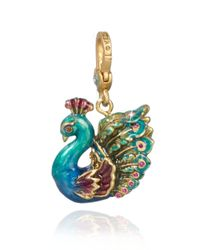 Jay Strongwater - Blue Peacock Charm - Lyst
