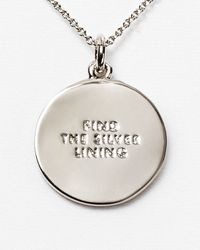kate spade new york - Metallic Find The Silver Lining Pendant Necklace 18 - Lyst