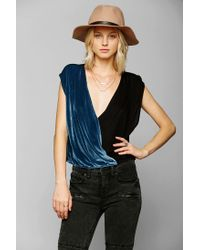Urban Outfitters - Blue Ecote Mixed Up Surplice Top - Lyst