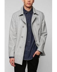 Urban Outfitters - Gray Charles 12 Doublebreasted Top Peacoat for Men - Lyst