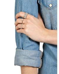 Swarovski - Metallic Petite Baguette Solitaire Ring - Lyst
