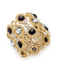INC International Concepts | Black Gold-Tone Jet Stone Stretch Bracelet | Lyst