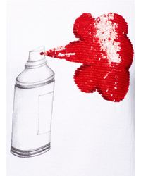 Markus Lupfer - White Sequin Spray Can T-shirt - Lyst
