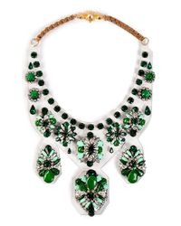 Shourouk - Green Extra Large 'primavera' Necklace - Lyst