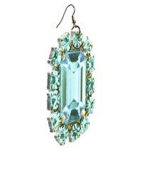Tatty Devine - Green Jewel Paste Earrings - Lyst