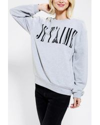 Urban Outfitters | Gray Blackstone Je Taime Pullover Sweatshirt | Lyst