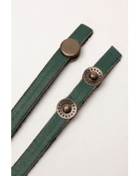 Urban Outfitters - Green Uo Leather Wrap Bracelet - Lyst