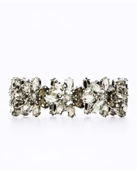 Ann Taylor | Metallic Clear and Smoky Stone Bracelet | Lyst