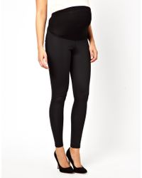ASOS - Black Tube Pant in Disco Fabric - Lyst