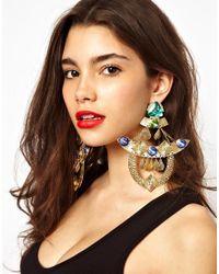 ASOS | Multicolor Premium Shamen King Clip On Earrings | Lyst