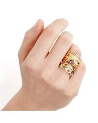 Astley Clarke - Metallic Velvet Ribbon Enamel Ring - Lyst