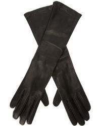Giorgio Armani | Black Giorgio Armani Long Leather Gloves | Lyst