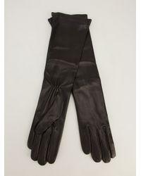 Giorgio Armani - Black Giorgio Armani Long Leather Gloves - Lyst