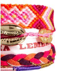 ASOS - Pink Hipanema Lolita Bracelet - Lyst