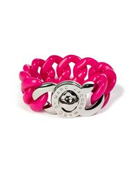 Marc By Marc Jacobs | Metallic Small Candy Turnlock Bracelet in Pop Pink | Lyst